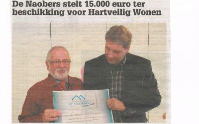 Persbericht: 15.000 euro voor Hartveilig Wonen